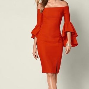 Venus Flounce Sleeve Bodycon Dress 12